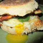 Breakfast for Dinner: Spicy Fried Cheese and Egg Sandwich