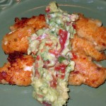 Tequila Chile Lime Chicken Tenders with Guacamole