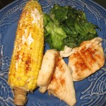 Easy Sunday Dinner: Grilled Chicken and Spicy Mexican Corn on the Cob