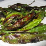 Roasted Shishito Peppers With Habanero Infused Olive Oil