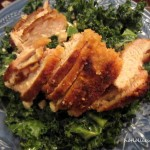 Spicy Crispy Chicken Breasts with Kale Salad