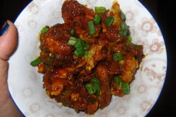 Gobi Manchurian Spicy Cauliflower Fritters Recipe