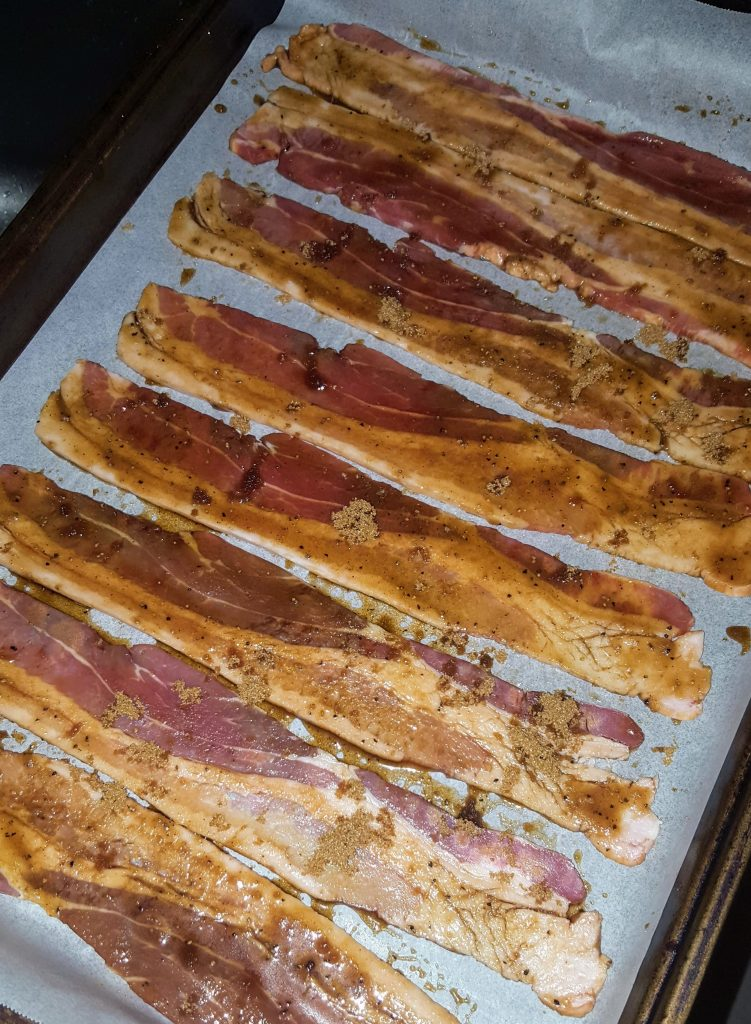 tray of bacon