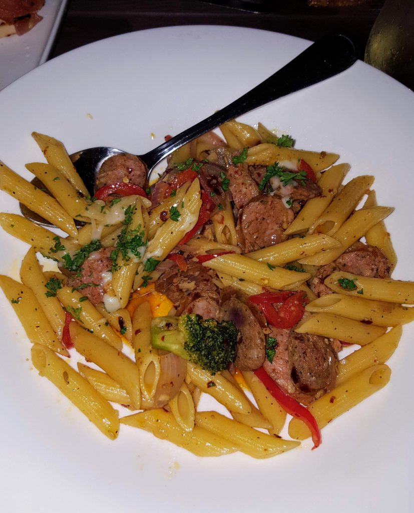 spicy penne pasta & sausage