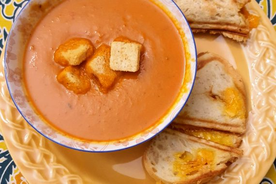 A Spicy Cream of Tomato Soup for a Little Comfort